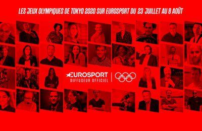 Eurosport dévoile son équipe d'experts pour les Jeux Olympiques de Tokyo 2020
