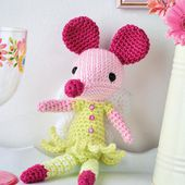 Fairy mouse toy Crochet Pattern