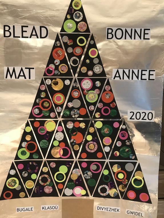 Les classes bilingues réalisent les affiches de Noël de Guidel