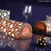 Bûche au chocolat et son insert framboise