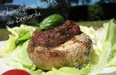 Champignons farcies au Bresaola