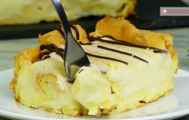 Dessert facile et très rapide, gâteau éclair sans cuisson