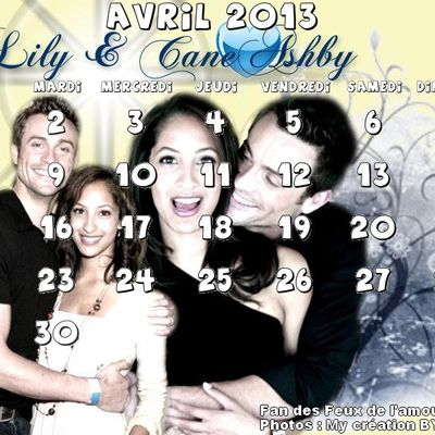 Calendrier : Avril 2013 avec Cane & Lily