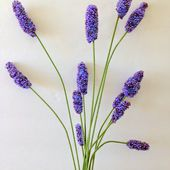 Purple Hues and Me: Faux Lavender Seed Bead Flowers DIY