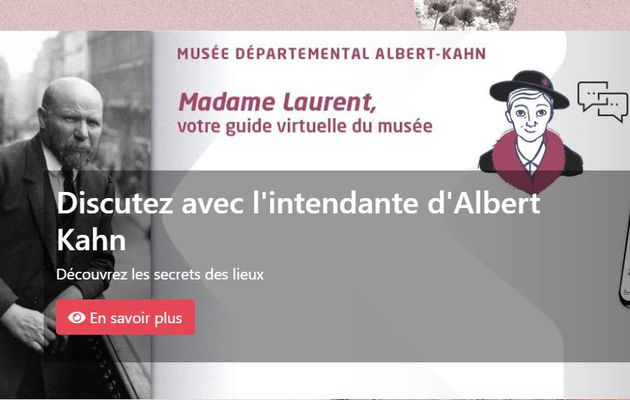 📷 Mme Laurent, le guide virtuel du musée départemental albert-kahn