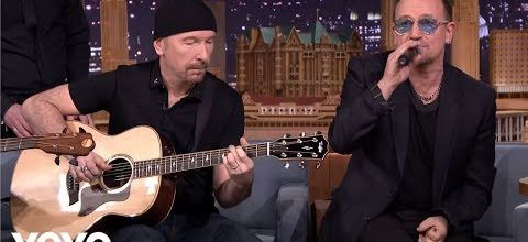 U2 - Ordinary Love- Acoustic-(Live on The Tonight Show)