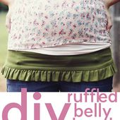 belly + baby // ruffled belly band tutorial - see kate sew