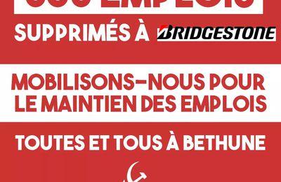 Bridgestone : mobilisons-nous tous à Béthune pour le maintien des emplois !