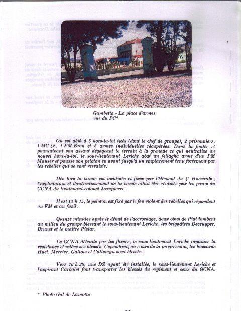 """Archives de 1956 à 1962 du 4e RH en Algérie. Origine """"colonel général du Capitaine Chaduc 1993 avec la participation du Colonel ODDO."""
