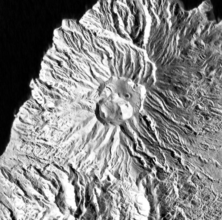 Soufrière de St Vincent - les dômes vus le 12.01.2021 / 22h18 par Sentinel-1 radar - via Mounts