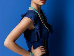 Oysho moda mare costumi e abiti  Blue Majorelle