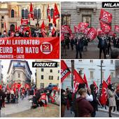 Contro il governo Draghi - Le Parti communiste italien a organisé des manifestations nationales contre le gouvernement Draghi