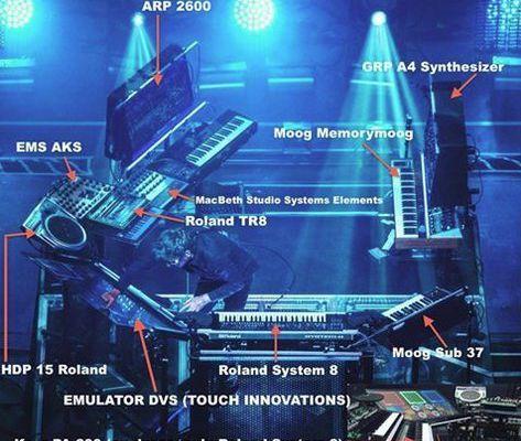 Le setup de Jean-Michel Jarre lors de la tournée Electronica
