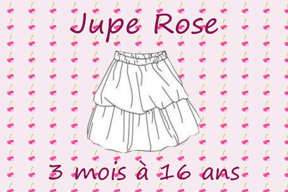 Patron couture gratuit jupe rose pour bébés et enfants