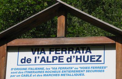 Via ferrata des Gorges de Sarenne à l'Alpe d'Huez - 16 août 2009