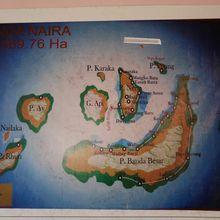 L'archipel des Banda. Arrivée au port principal de Banda Neira.