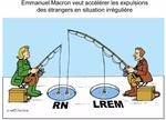 Emmanuel Macron part à la pêche aux électeurs du RN