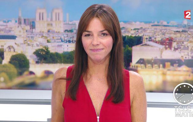 SOPHIE LE SAINT pour LE JT de 7H30 ce matin @France2tv @telematin #vuesalatele