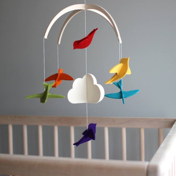 Crib mobile with sturdy frame