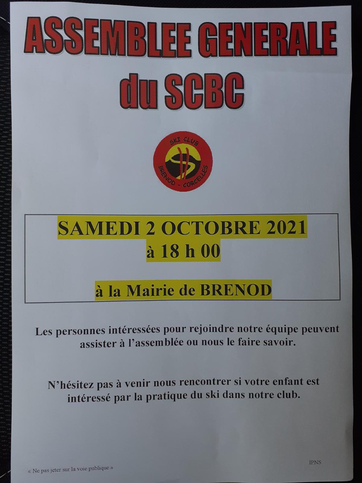 Assemblée Générale du SCBC 2021