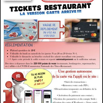 Tickets Restaurant :la version carte arrive !!!
