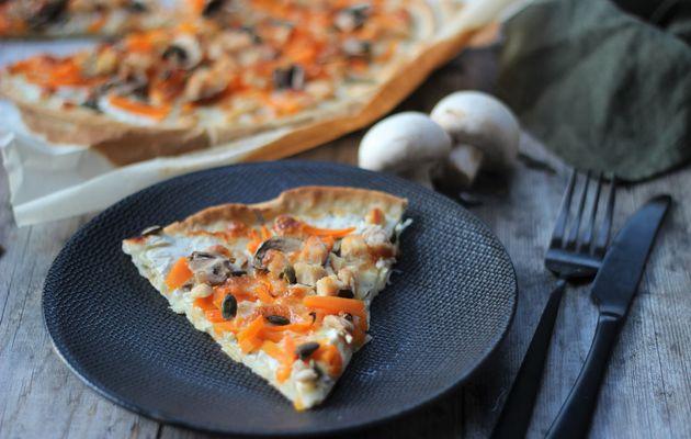 PIZZA POULET BUTTERNUT CHAMPIGNONS