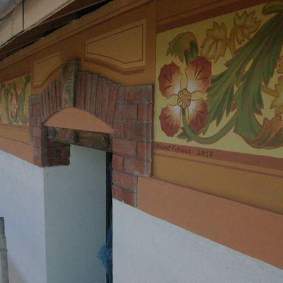Restitution d'une frise de style belle époque à Saint Raphael - Ancienne marbrerie Pelleti .