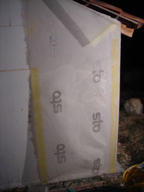 isolation thermique exterieure, polystyrène, marouflage fibre de verre, angles, etc