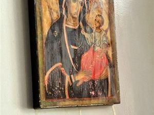 L'icône de Marie qui pleure à Paris