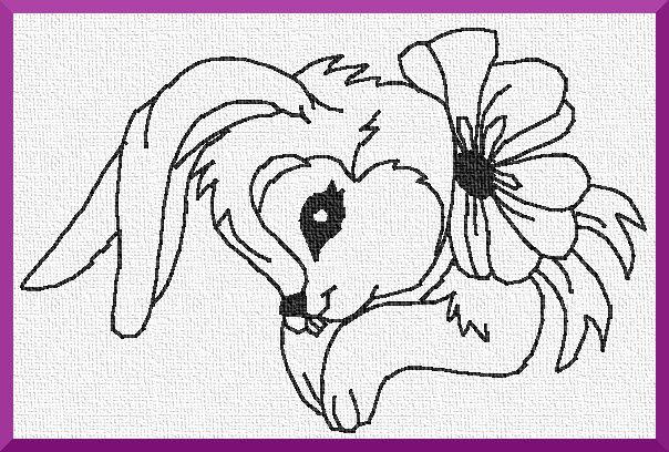 Les petits lapins de Pâques.
