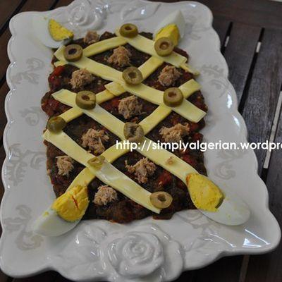Hmiss , salade de poivrons grilles Algerienne