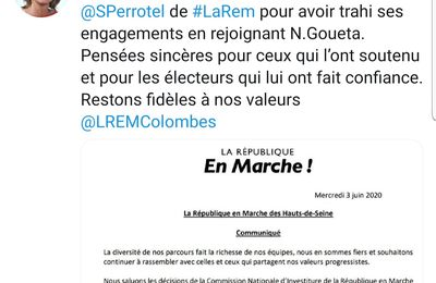 "Perrotel exclus de LREM qui demande à ""battre Goueta"" au second tour"
