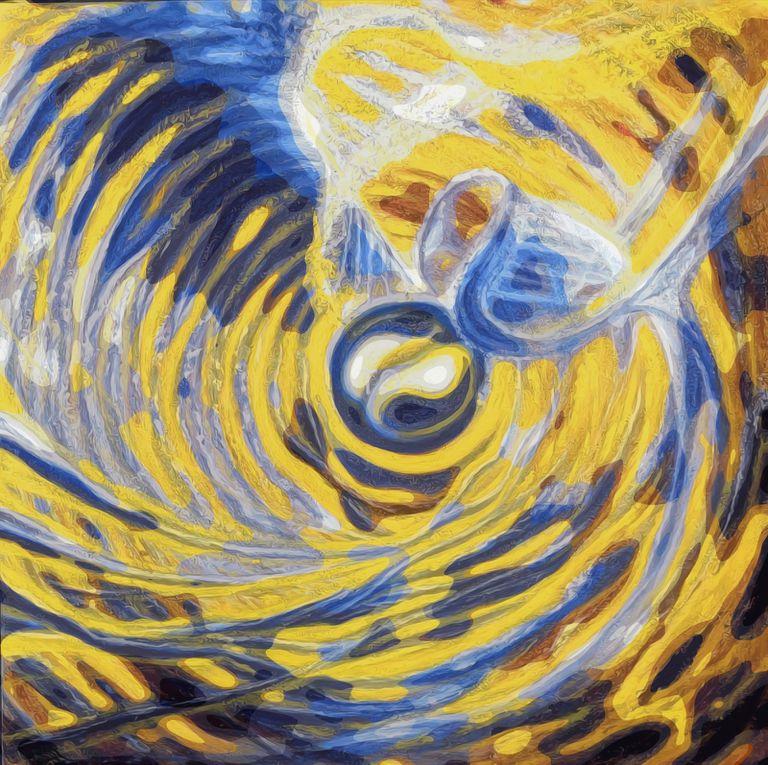 Up-Cycling d'une toile. Peinture à l'huile - Photographie numérisée.  TO © 2021