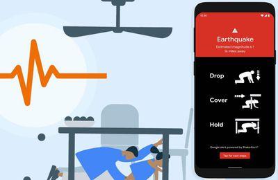 Tremblement de terre : L'Android Earthquake Alerts System sera déployé mondialement dès 2022 !