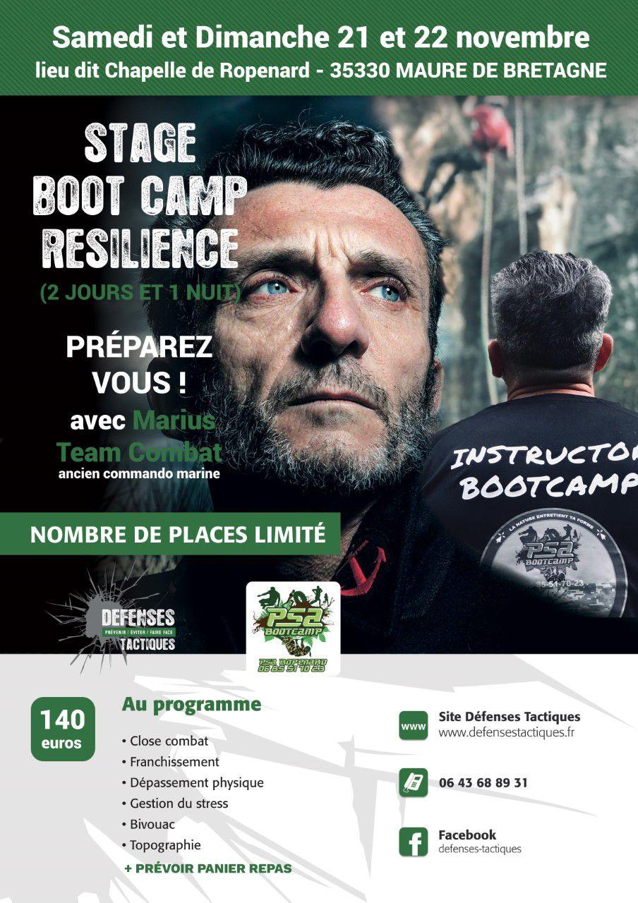 Boot camp Marius Samedi 21 et 22 Novembre 2020 Defenses Tactiques