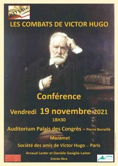 Conférence sur Hugo de nos ursidés Arnaud Laster et Danièle Gasiglie-Laster