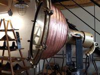 Projecteur ancien tout en cuivre et laiton - époque fin XIXème !!!