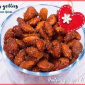 Amandes grillées au miel et aux épices