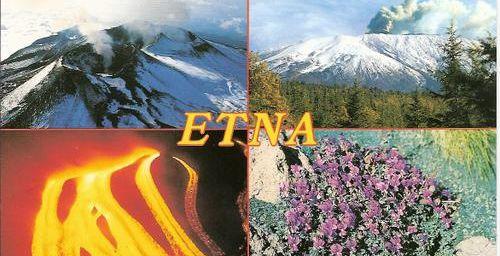 Carte postale de l'Etna