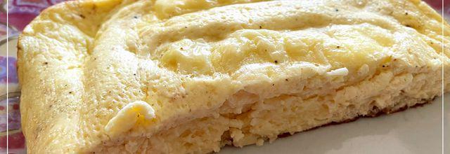 Omelette aux quenelles avec le cake factory
