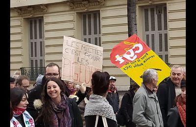 Manifestation à Nice du 24 janvier