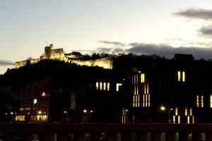 Crépuscule sur la Citadelle et la Cité des Arts
