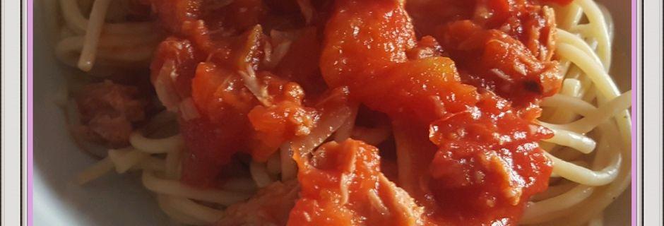Spaghetti sauce au thon WW