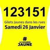 Plus de 123 000 MANIFESTANTS dans les rues lors de L'ACTE 11 des GILETS JAUNES