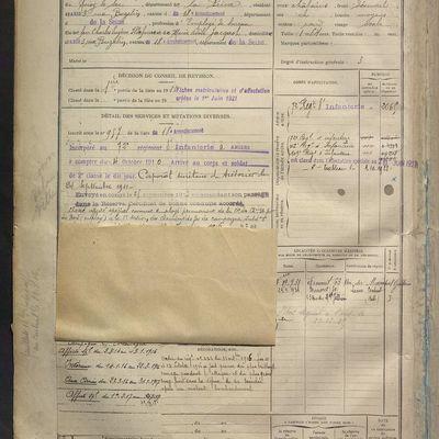 GILLES Charles Edouard : Registre des matricules