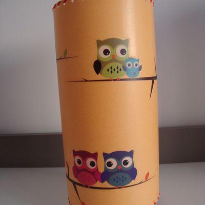 "Lampe tube ""chouette"""