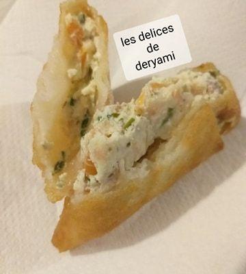 Brick au saumon et fromage