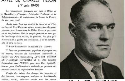 Le 17 juin 1940, depuis Bordeaux, les COMMUNISTES lancent le premier appel à la Résistance !
