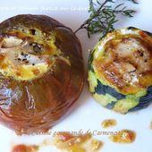 Courgette et tomate farcie au chèvre - Cuisine gourmande de Carmencita