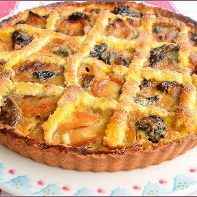Tarte Gasconne aux pommes et aux pruneaux...sans oublier l'armagnac car n'est pas Gascon qui veut !